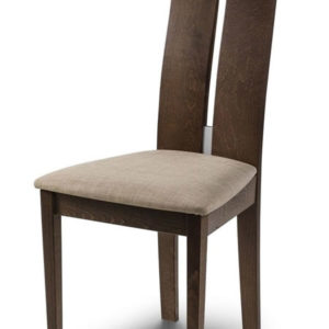Paysan Solid Wood Beech Walnut Finish Set Of 2 Dining Kitchen Chair High Back