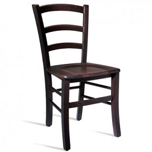 Pichetto Solid Beech Side Chair - Rich Wenge Colour Fully Assembled