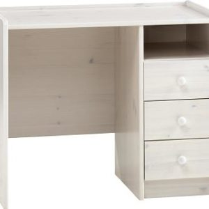 Whitewash Scandinavian Pine Desk + 3 Drawers Danish Made Quality