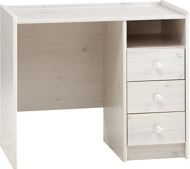 Whitewash Scandinavian Pine Desk + 3 Drawers Danish Made Quality
