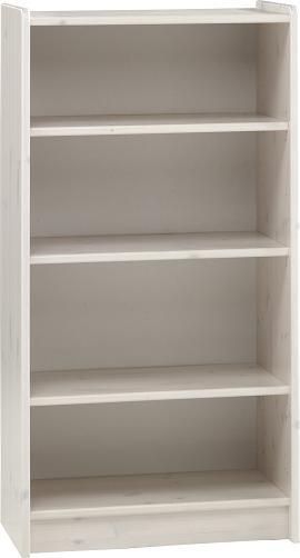 Whitewash Scandinavian Pine Tall Bookcase Danish Made Quality