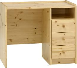 Natural Lacquer Desk - 3 Drawers