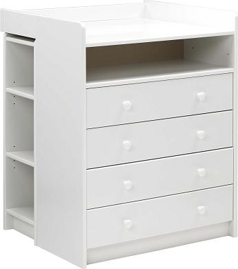 White Mdf Changing Table - 4 Drawers