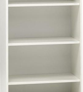 White MDF Tall Bookcase