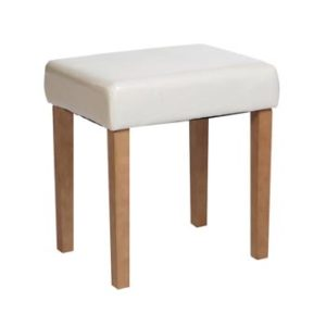 Romeo Oak Dressing Table Stool With Padded Seat