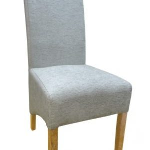 Dora Oak And Chenille Upholstered Chair - Colour Selection - Fully Assembled