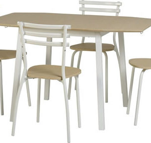 Langer White Drop Leaf Dining Set