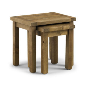 Asoney Nest Of Tables Rough Sawn Solid Pine Fully Assembled
