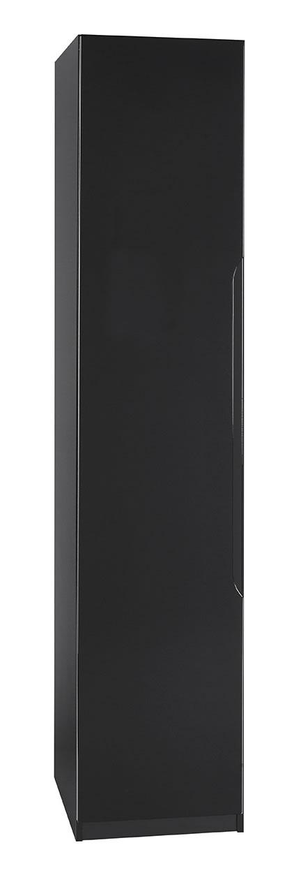 Viz Ori Black Gloss Tall Narrow Single Wardrobe Uk Made Quality Fully Pre Assembled