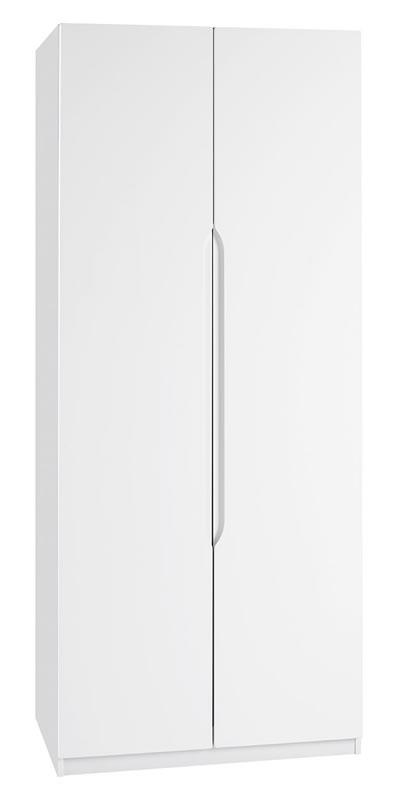 Viz Alp White Gloss 2 Door Wardrobe Uk Made Quality Fully Pre Assembled