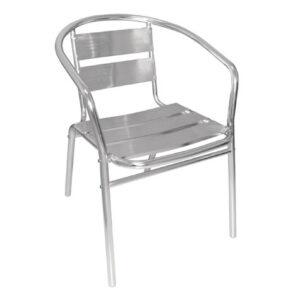 Leit12 Outdoor Aluminium Or Indoor Stackable Garden Patio Chair