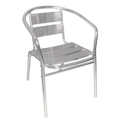 Leit12 Outdoor Aluminium Or Indoor Stackable Garden Patio Chair