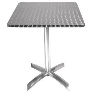 Leit 65 Aluminium Outdoor Square Flip Top Table Space Saver
