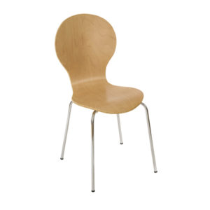 4 Levanchy White Kitchen Dining Chairs - White Wood With Chrome