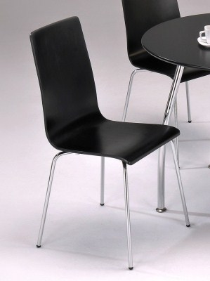 4 Lila Black Kitchen Dining Chairs