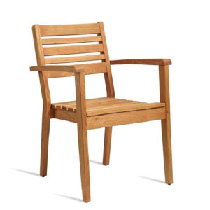 Dazey Robina Wood Stacking Armchair Garden Outdoor Garden Patio Chair Fully Assembled