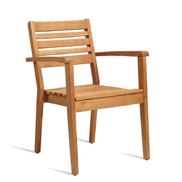 Dazey Robina Wood Stacking Armchair Garden Outdoor Garden Patio Chair Fully Assembled