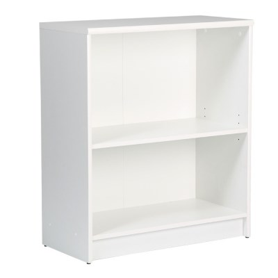 Sheek Danish Made Low Bookcase - Pearl White - 2 Shelf