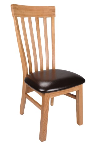 Daisy Solid Oak And Bycast Leather Chair