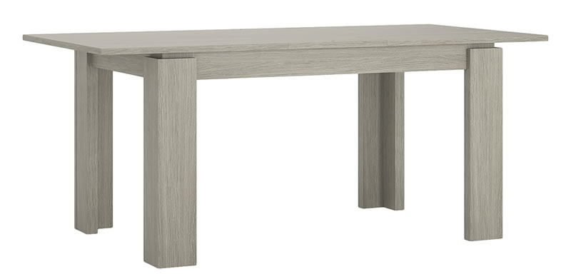 Rita Extending Dining Table In Champagne Melamine