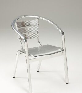Party Stackable Aluminium Chair - Indoor/Outdoor