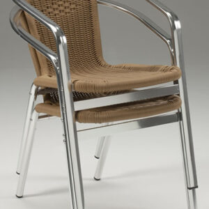 Party Stackable Wicker Chair - Indoors/Outdoors