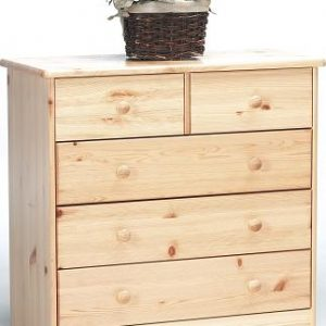 Farm Style Solid Pine With Natural Lacquer Chest - 2+3 Drawers Danish Made Quality