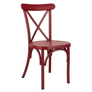 Zipon Cross Back Stacking Side Kitchen Dining Retro Chair In Four Colours Fully Assembled