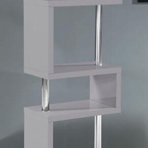 Sunshine 5 Tier Stand - Gray Gloss And Chrome Frame