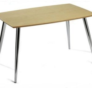 Mano Chrome And Wood Table - Rectangle