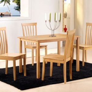 Manolo Small Wooden Dining Table In Light Oak