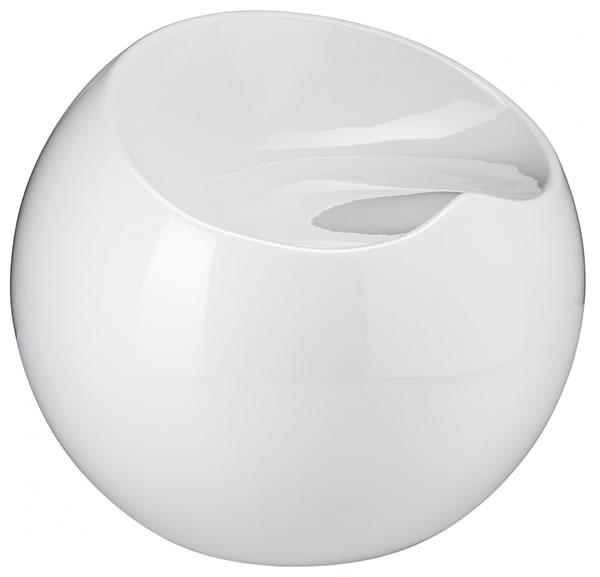 Resone Retro Ball Stool Chair White Modern