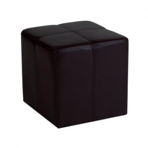 Monanza Black Antique Faux Leather Stool