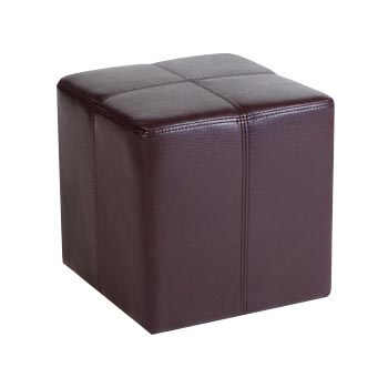 Monanza Brown Antique Faux Leather Stool