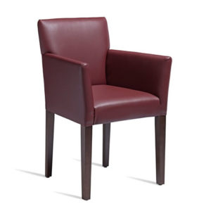 Marco Wine Red Tub Armchair Solid Beech Commercial Quality Fully Assembled.