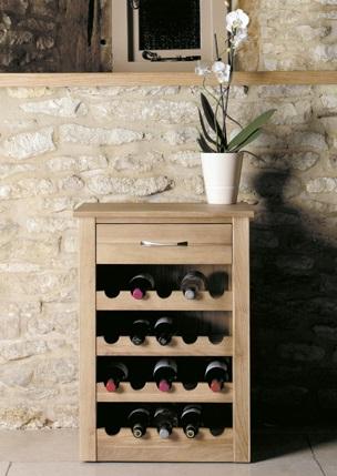 Oak Large Wine Rack / Lamp Table - Fully Assembled