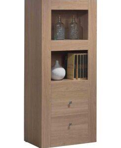 Mode Wood Display Cabinet - 2 Shelf 2 Drawer