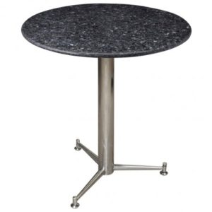 Payson 3 Legged Square Dining Kitchen Table Chrome Or Stainless Steel Frame With a Choice of Granite