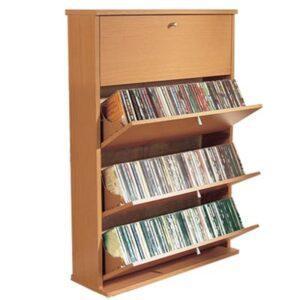 Tatler Beech Cd / Media Storage Cupboard