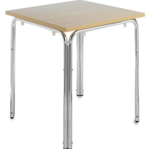Nan Square Stacking Dining Table Wood And Aluminium
