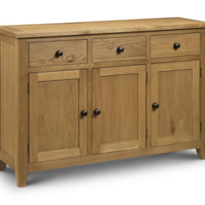 Taria Sideboard 2 Drawers 3 Doors Solid Oak And Oak Veneers Waxed Finish Fully Assembled