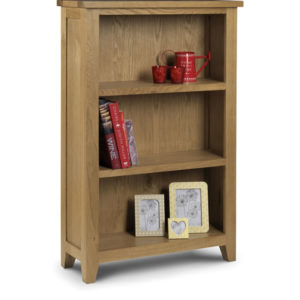 Taria Low Bookcase Solid Oak And Oak Veneers Waxed Finish Fully Assembled