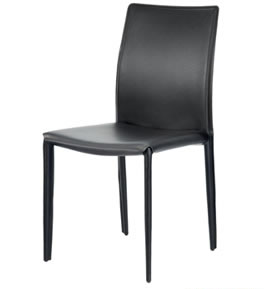 Pappon Stylish Kitchen Dining Chair Padded Black Or Grey Seat