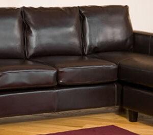 Plisdo Leather Bonded Corner Sofa Suite 3 Seat In Black