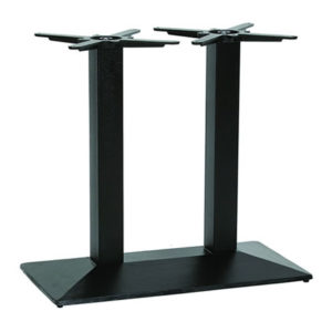 Nowson Cast Iron Twin Pedestal Black Base Dining