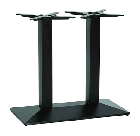 Nowson Cast Iron Twin Pedestal Black Base Dining