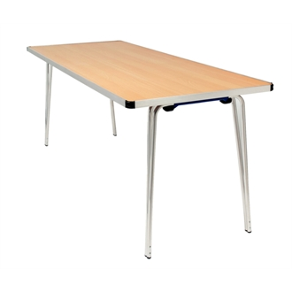 Ceri Oak 4Ft Aluminium Portable Folding Table - Various Colours