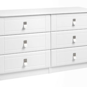 Nulito Quality Fully Assembled White 3 Drawer Double Chest
