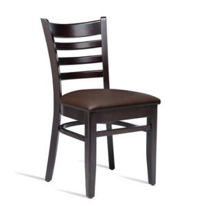 Stayvone Quality Kitchen Dining Chair Wenge Frame Brown Padded Seat Fully Assembled