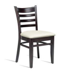 Stayvone Quality Kitchen Dining Chair Wenge Frame Cream Padded Seat Fully Assembled